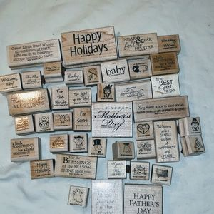 'Lot' of Stampin Up stamps over 40 Stamps! NEW